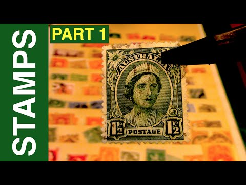 ASMR - Forgotten Stamp Collection Part 1
