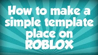How to make your own roblox game on phone (2019) *WORKING*