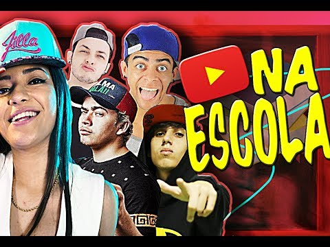 Thumbnail: YOUTUBERS NA ESCOLA (Whindersson, Cocielo, Zoio, Caracol, Dani Russo, Maneirando ,...)
