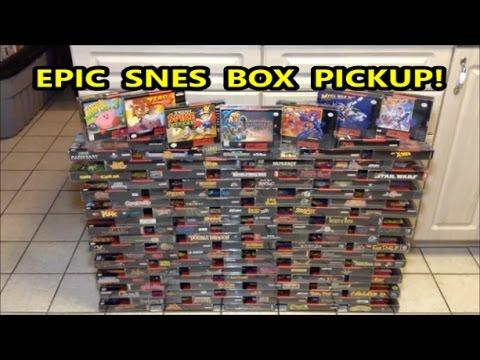 EPIC SUPER NINTENDO BOX PICKUP!! 95 SNES BOXES! | Scottsquatch