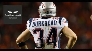 Rex Burkhead staying with the Patriots was best case scenario for fantasy football