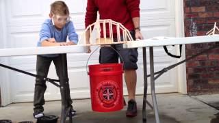 Popsicle Stick Arch Bridge Strength Capacity.