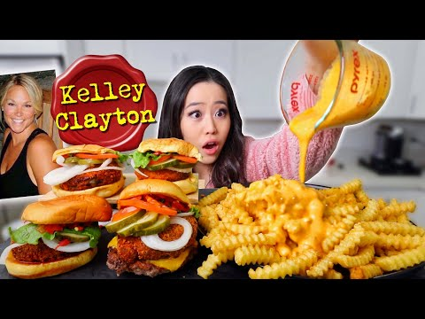 CRAZY CHEESY FRIES + FRIED CHEESE BURGERS MUKBANG 먹방 | Eating Show