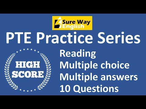 PTE Multiple Choice Multiple Answers Practice Questions with Answers - High Scoring PTE Practice