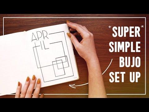 Super Simple April 2020 Bullet Journal Set Up (for my husband ❤)