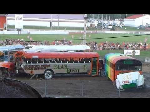 School Bus Demo Derby 2017 Big Butler Fair