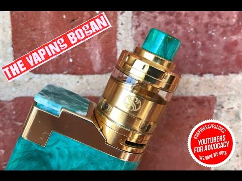 Merlin Mini RTA from Augvape + Wicking Tutorial Single & Dual Coil - The Vaping Bogan