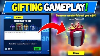 *NEW* GIFTING SYSTEM RELEASE DATE?! + GAMEPLAY in Fortnitemares (How To Gift Skins)