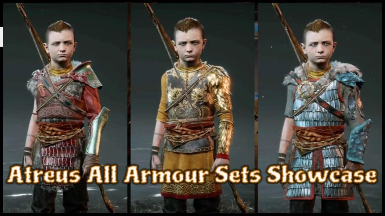 God Of War 4 Atreus All Armor Sets Showcase