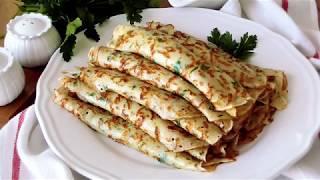 Сырные Блины с Зеленью! Оторваться невозможно!Cheese Pancakes with Greens!