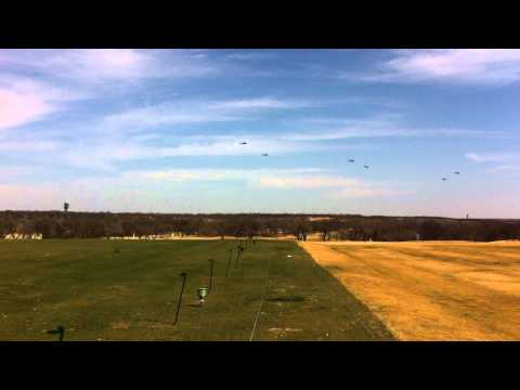 8 Apache Helicopters at Dyess Air force Base