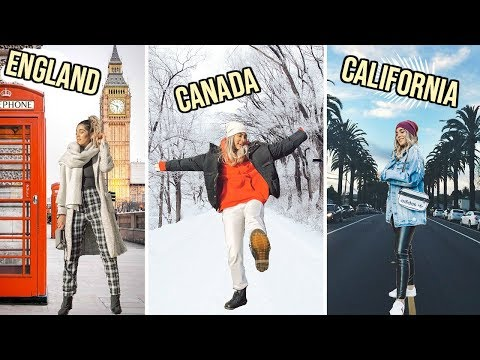 WINTER outfits for EVERY COUNTRY from CANADA to AUSTRALIA