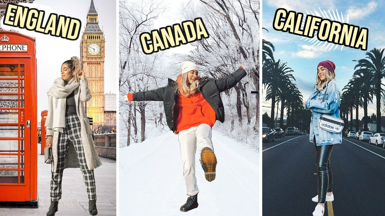 WINTER outfits for EVERY COUNTRY from CANADA to AUSTRALIA ☆ ft. boohoo 3