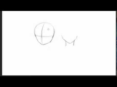 Mangas/Animes zeichnen #001 Die Kopfform