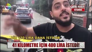 41 kilometre için 400 lira istedi!