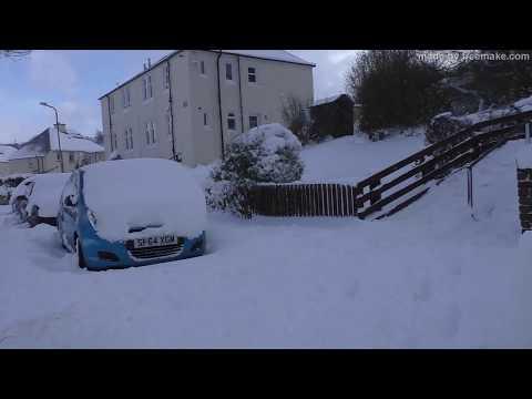 Greenock snow 01 03 2018