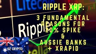 Ripple XRP: 3 Fundamental Reasons for 20% Spike & Aussie banks + xRapid