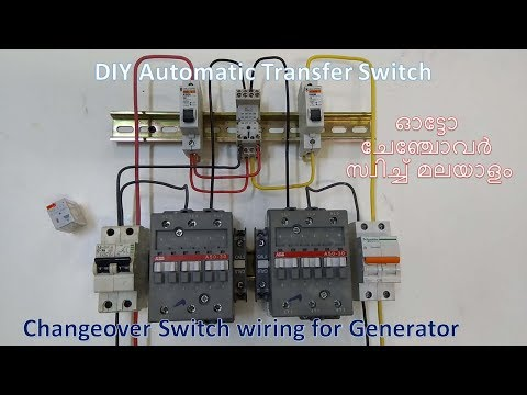 How To Make Automatic Transfer Switch With Contactor (ATS)