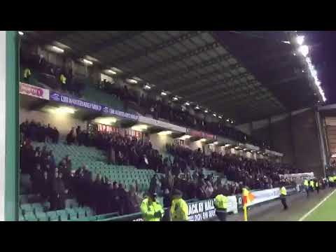 Rangers fans after beating Hibs at Easter Road last night. 🇬🇧👏
