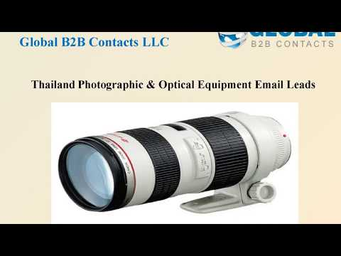 Thailand Photographic & Optical Equipment Email Leads