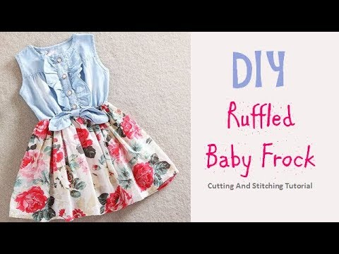 f899be56a DIY Ruffled Baby Frock Cutting And Stitching Full Tutorial - YouTube
