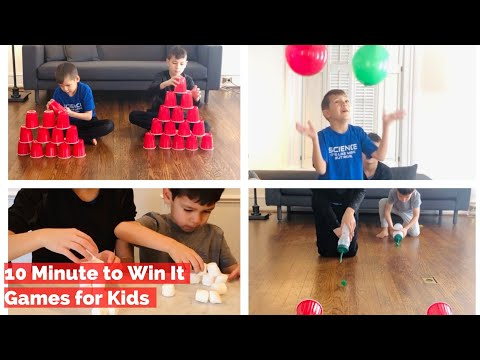10 Minute to Win It Games For Kids - Fun Family Indoor Activities - Easy At Home Games for Kids
