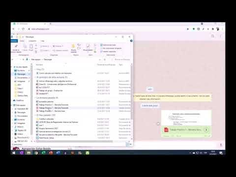 ¿Cómo descargar archivos desde la PC utlizando Whatsapp web?