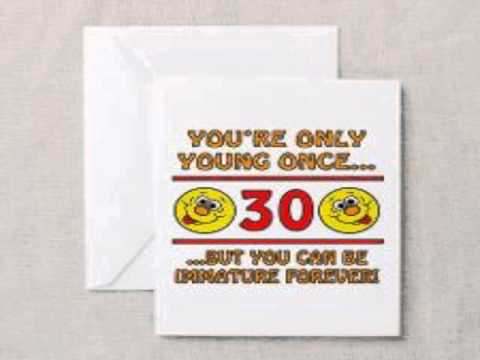 Funny 30th Birthday Cards Youtube