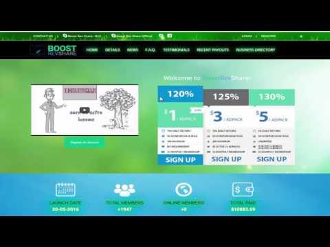 BoostRevShare Презентация рекламного проекта BoostRevShare  Маркетинг план и выгоды партнеров проект