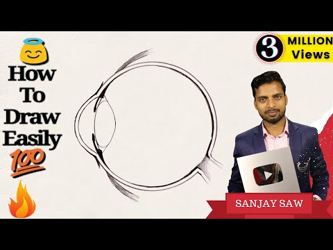 How To Draw Human Eye Diagram Step By Step For Beginners