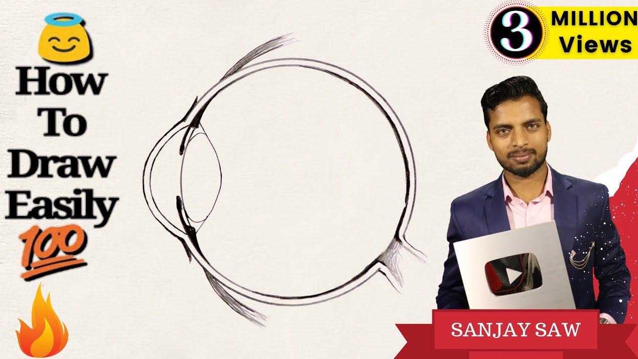 eye diagram basic wiring diagram tutorialhow to draw human eye diagram step by step for beginners [ 1280 x 720 Pixel ]