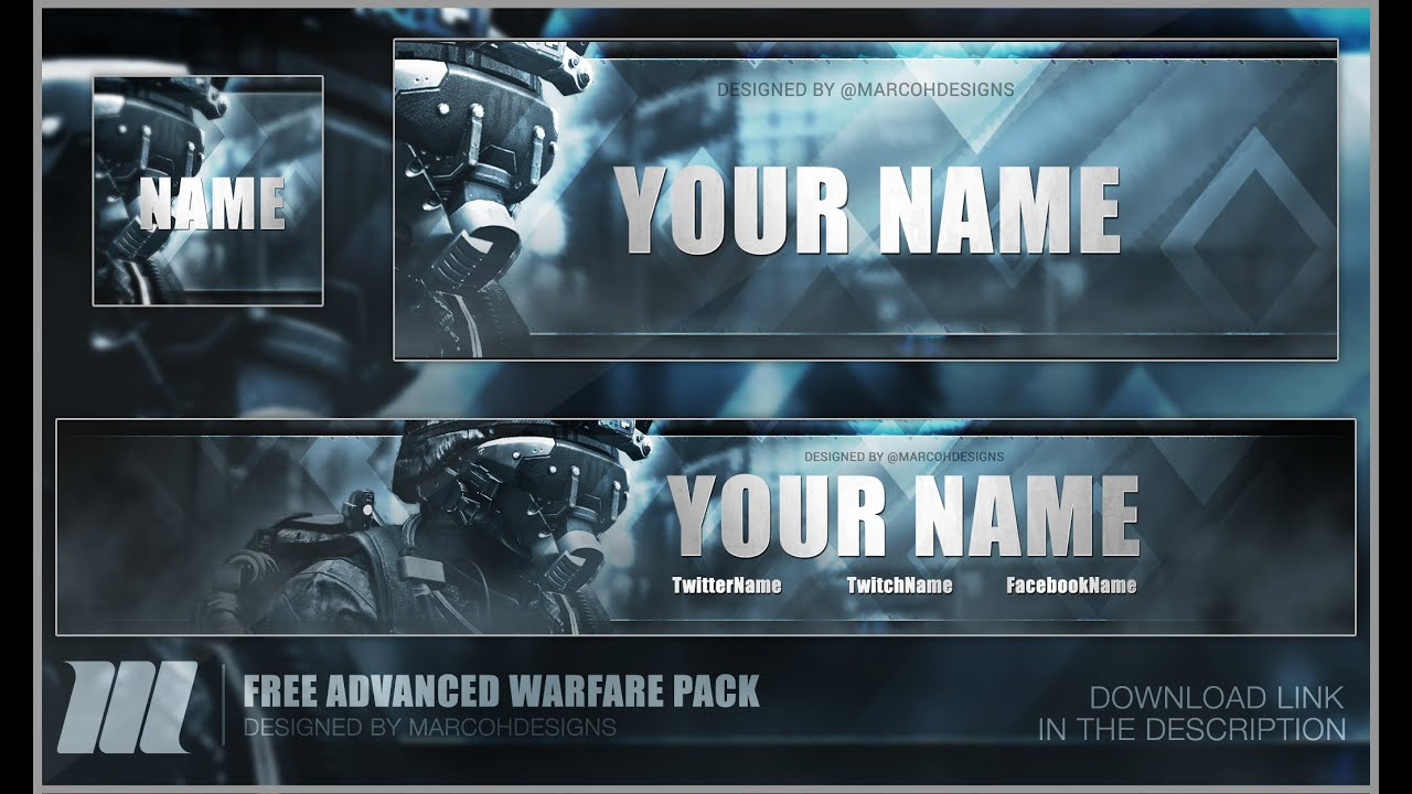 FREE COD Advanced Warfare Banner Template More