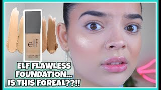 ELF Flawless Finish Foundation: How is this only $6?? | Cakey or Nah | JackieFlores