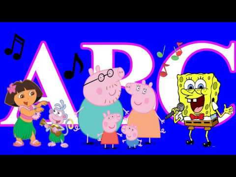 ALPHABET ABC Song with Dora Baby Spongebob