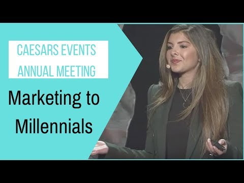 "Chelsea Krost Keynote Speaker ""Marketing To Millennials"" Caesars Events Annual Meeting"