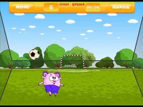 Смешарики онлайн игра: Футбол - YouTube