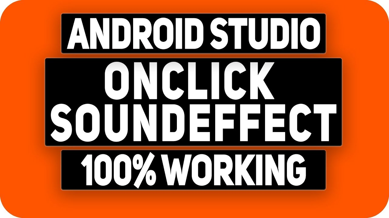 How To Play Sound on Button Click in Android Studio 2018 - Android  Programming Tutorial