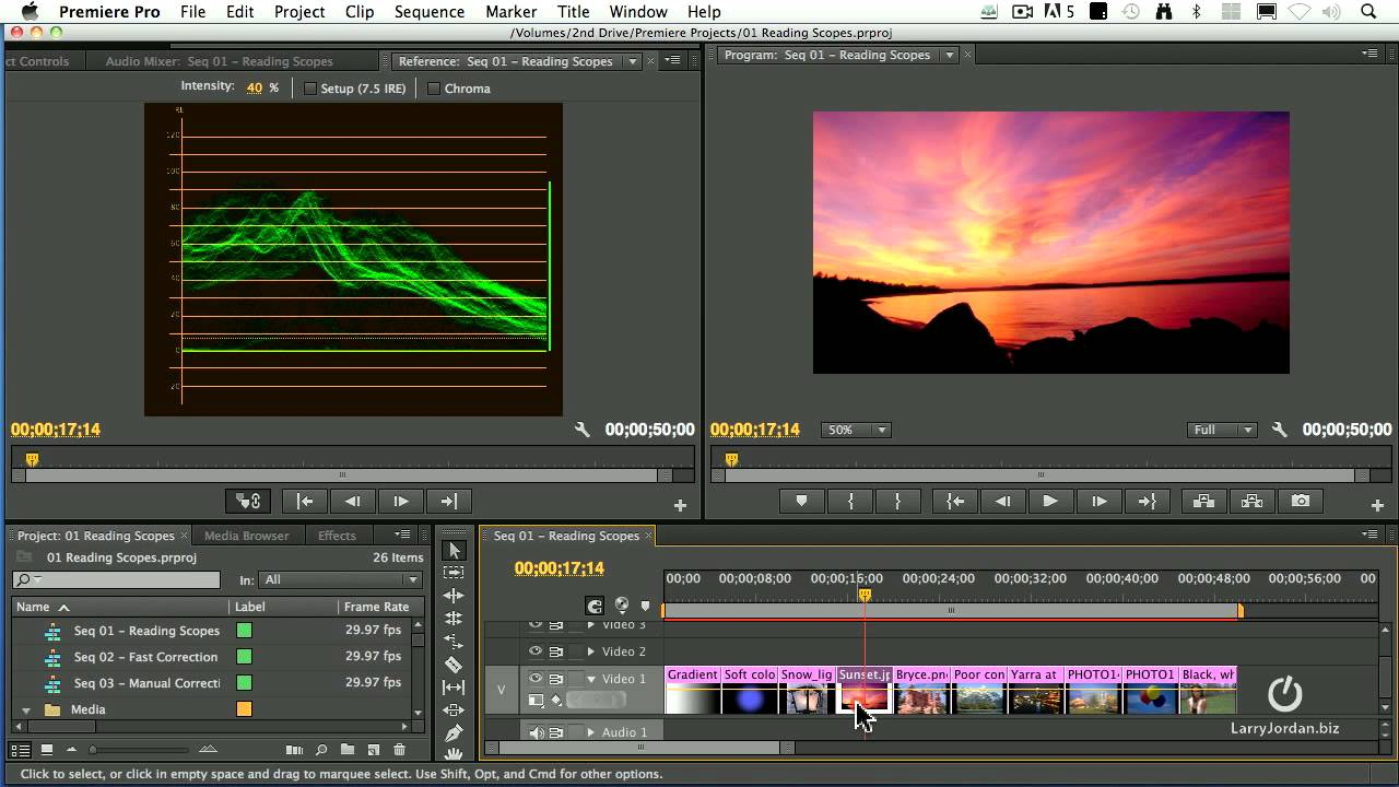 Read Scopes in Adobe Premiere Pro CS6