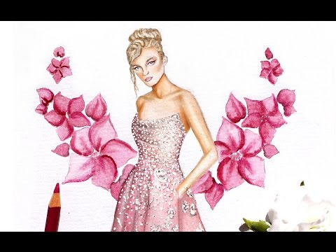 Fashion Illustration - Tony Ward spring summer 2017 | Nina Mid Illustrations