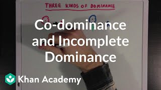 Co-dominance and Incomplete Dominance