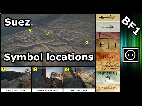 BF1 : Suez Symbol locations | Marconi Easter Egg, Dog Tag