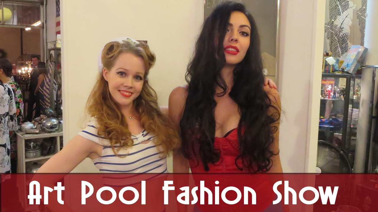 Pinup fashion show at artpool gallery youtube for Pool fashion show