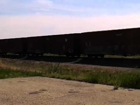 RoadHacker: Freight Train #1 Along US Highway-50 in Kansas