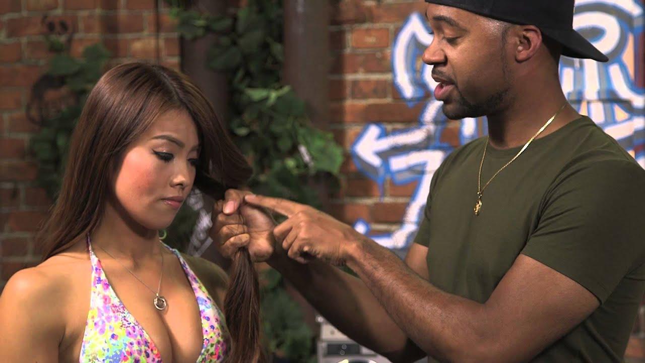 Choking and hair asian pulling
