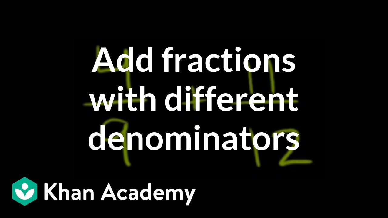 How to add fractions that have different denominators (video ...
