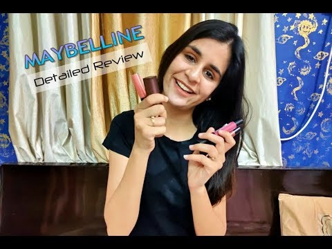 Maybelline lipsticks detailed review (Top trendy!)