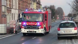 [Massive Airhorn] Nieuwe Autopomp + Uitruk Verkeersongeval - Brandweer Gent