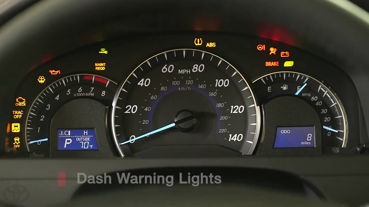 Butler Toyota Macon >> Camry How To Dashboard Warning Lights 2014 5 Toyota Camry ...