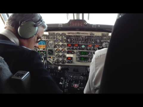 AIR NEW ZEALAND/EAGLE AIRWAYS B1900D COCKPIT ARRIVAL WELLINGTON NEW ZEALAND