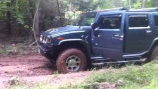 pulling out toyota  with my h2 hummer